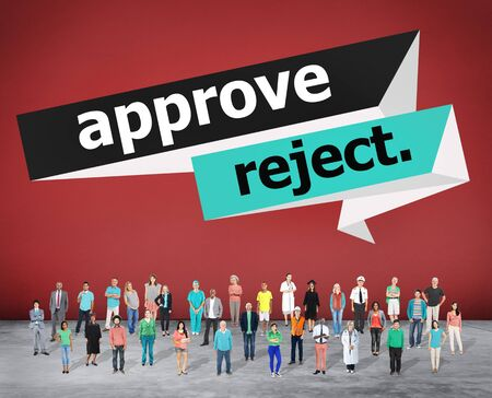 cancelled: Approve Reject Cancelled Decision Selection Concept