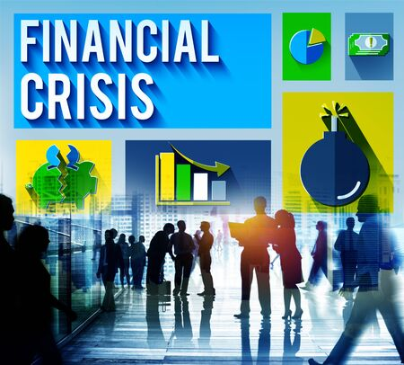 office building: Financial Crisis Problem Money Issue Concept