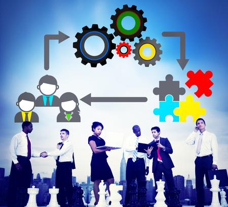colaboracion: Equipo Trabajo en equipo Colaboraci�n Concepto Corporativa Foto de archivo