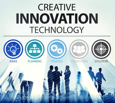技术: 創意創新科技思想觀念的啟示 版權商用圖片