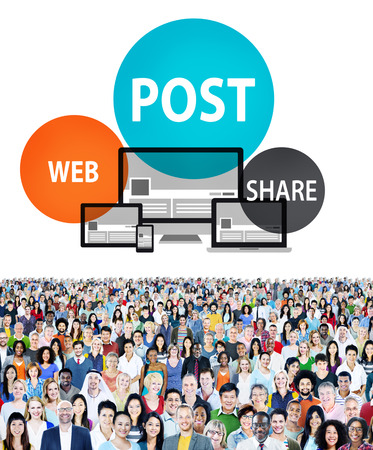 announce: Post Web Share Announce Reminder List Remember Concept