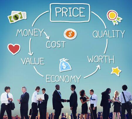 worth: Price Economy Money Cost Value Worth Concept