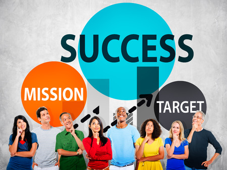 buisness: Success Mission Tarket Buisness Growth Planning Concept