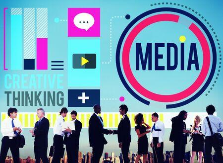 pensamiento creativo: Medios de Comunicaci�n Conectar Concepto Pensamiento Creativo