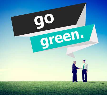 environmental conversation: Go Green Environmental Conservation Business Concept
