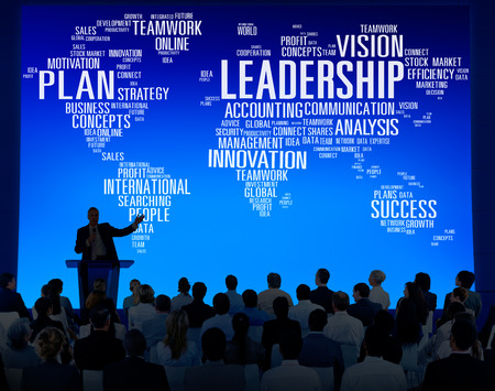 management meeting: Leadership Boss Management Coach Chief Global Concept