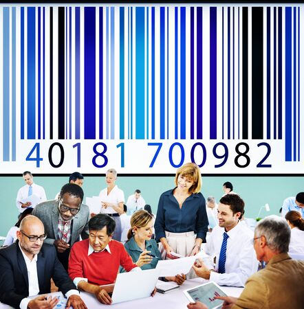 Ordinal: Bar Code Price Tag Coding Encryption Label Merchandise Concept