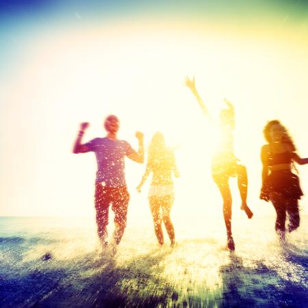 Freedom Beach Amitié été Concept vacances
