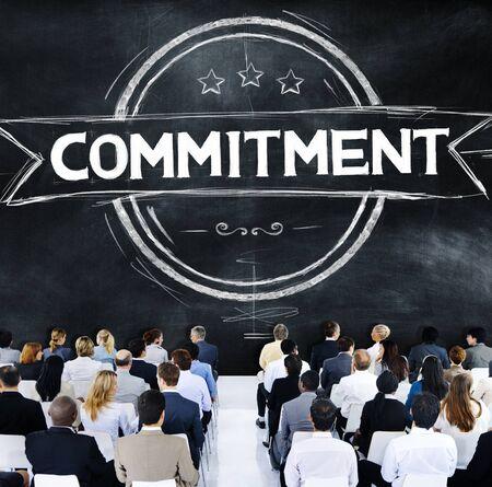 conviction: Commitment Devotion Dedication Conviction Concept