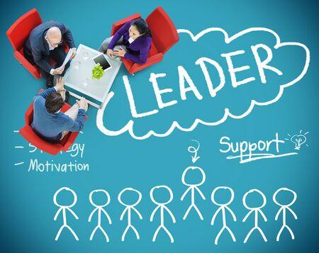 team leadership: Leader Support Teamwork Strategy Motivation Concept
