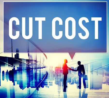 reduce: Cut Cost Reduce Recession Deficit Economy FInance Concept