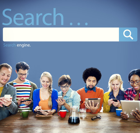 seo concept: Search Seo Online Internet Browsing Web Concept Stock Photo