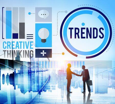 trending: Tendenze moda marketing contemporaneo Trending Concetto