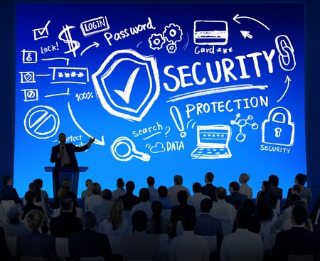 security protection: Diversity Business People Security Protection Seminar Concept Stock Photo