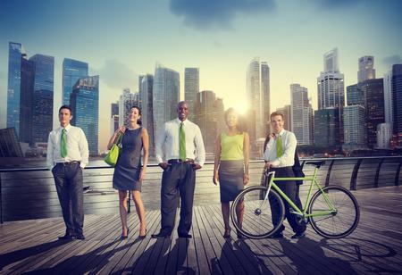 Hombres de negocios de confianza saludable Ocio Recreación Al Aire Libre Concepto Foto de archivo