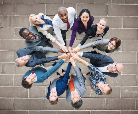 organized group: Business People Togetherness Friendship Corporate Concept