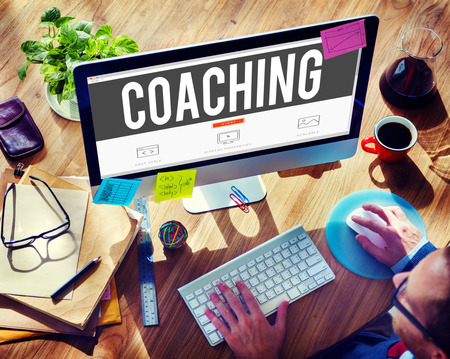working model: Coach Coaching Skills Teach Teaching Training Concept Stock Photo