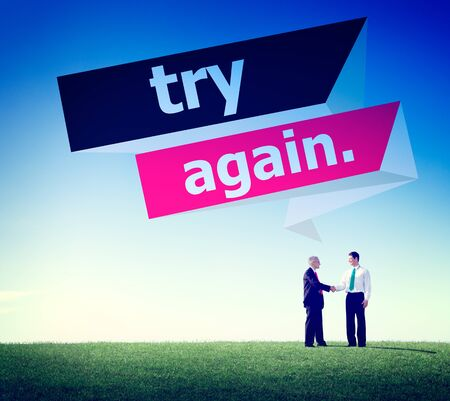 retry: Try Again Restart Retry Persistence Endure Concept Stock Photo
