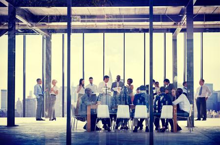 비즈니스 조직 사람들 작업 공생 회의 개념