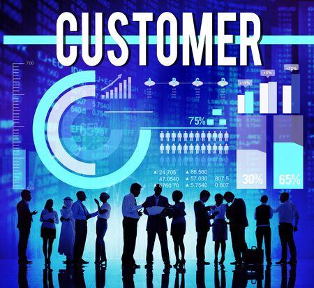 buyer: Customer Satisfaction Consumer Client Buyer Concept Stock Photo
