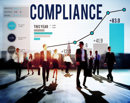 stock market data: Compliance Procedure Regulations Risk Strategy Concept Stock Photo
