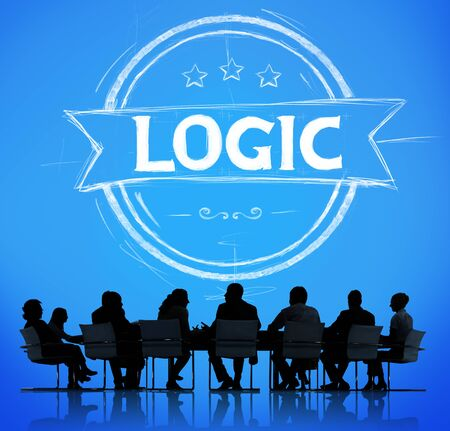 reasonable: Logic Lgical Reasonable Critical Thinking Concept Stock Photo
