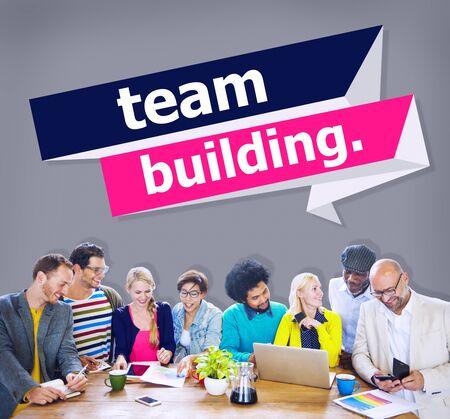 cooperate: Team Building Cooperate Cooperation Management Concept