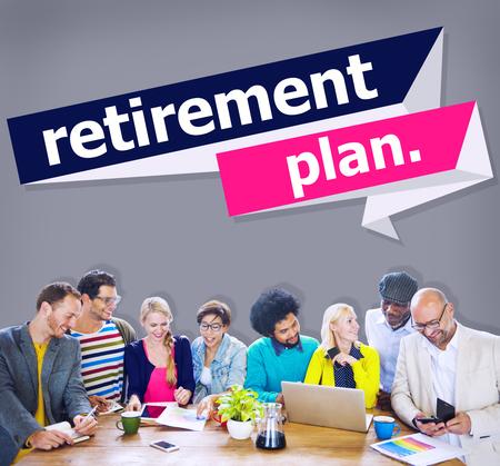 retirement community: Retirement Plan Retirement Planning Pension Concept Stock Photo