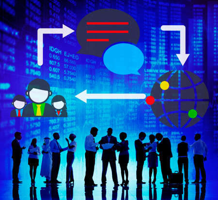 Global Communications Connection Social Networking Concept Stock Photo