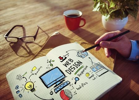 grafiken: Inhalt Kreativität Digital Grafik-Layout Webdesign Webpage Konzept