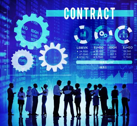 barter: Contract Commitment Deal Barter Business Concept Stock Photo