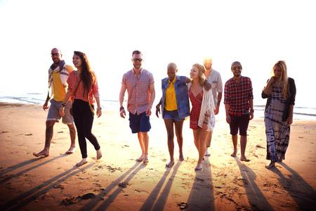 amicizia: Amicizia Legame affettivo Rilassamento Summer Beach Felicit� Concetto