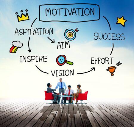 Motivation Aspiration Aim Vision Success Concept Stock Photo