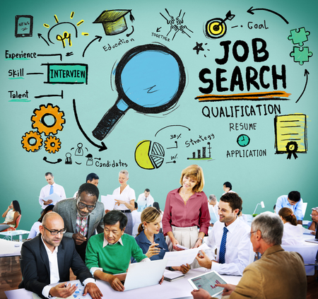 qualification: Job Search Qualification Resume Recruitment Hiring Application Concept