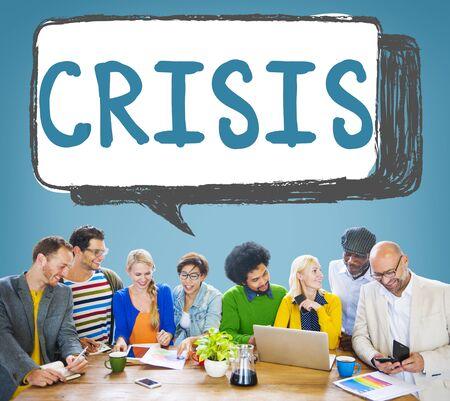 financiele crisis: Economics Financial Crisis Risk Strategy Concept