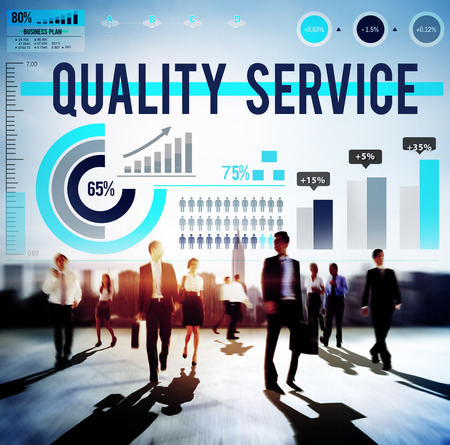 quality service: Quality Service Customer Satisfaction Assistance Concept