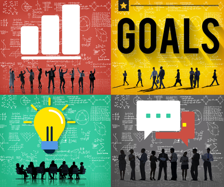 aim: Goals Target Mission Success Inspiration Concept