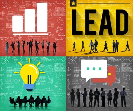 team leadership: Lead Leadership Management Support Team Concept