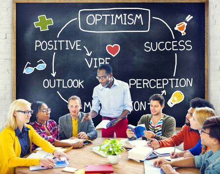 Optimism Positive Outlook Vibe Perception Vision Concept Stock Photo