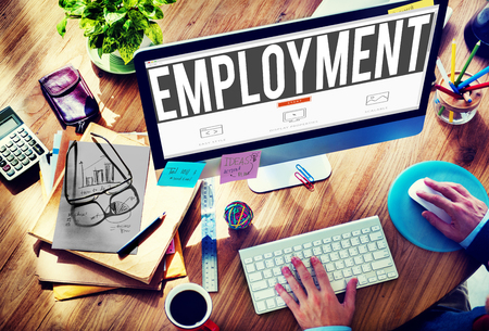 employment: Employment Employed Career Job Hiring Concept Stock Photo