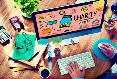 give charity: Charity Donate Help Give Saving Sharing Support Volunteer Concept
