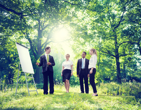 green nature: Relaxing Business Working Outdoor Green Nature Concept