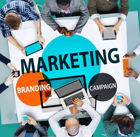 advertisement: Marketing Branding Planning Advertisement Commercial Concept Stock Photo
