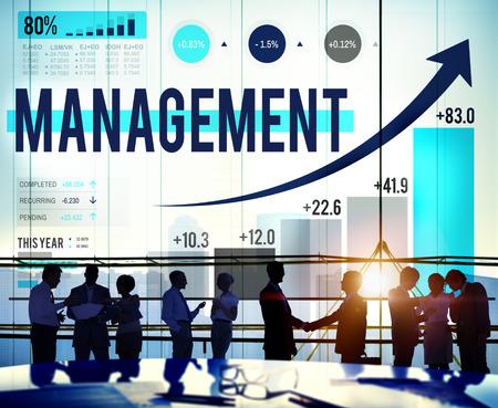 managing: Management Organization Leadership Managing Concept