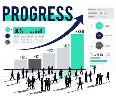 enhance: Progress Improvement Development Success Growth Concept