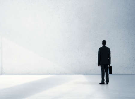 professional occupation: Businessman Professional Occupation Looking Standing Concept Stock Photo