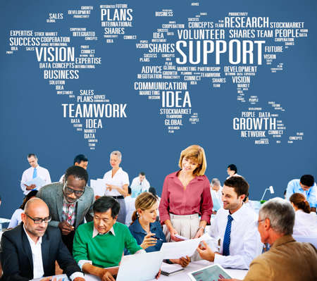 business help: Support Idea Plans Vision Buiness Growth Global Concept
