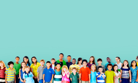 Children Kids Childhood Friendship Happiness Diversity Concept Foto de archivo