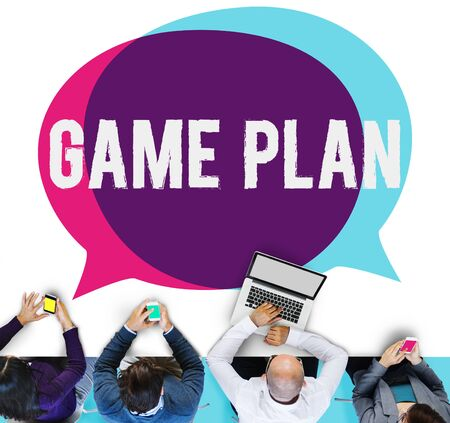 game plan: Game Plan Strategy Tactic Planning Vision Concept Stock Photo