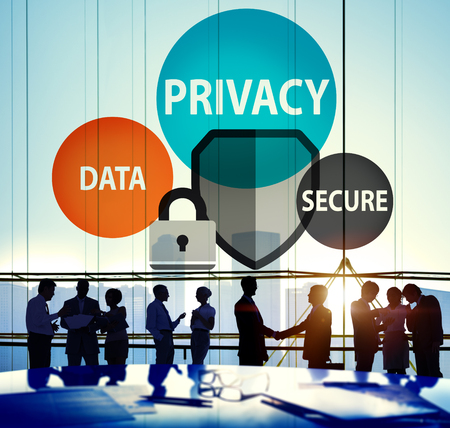 Privacy Data Secure Protection Safety Concept Standard-Bild